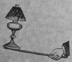 Forgotten juggling props table lamps ija otto maurer published around 1890 featured the following lamp for sale with the caption of nickel plated lamp with stick no glass but chimney mozeypictures Choice Image