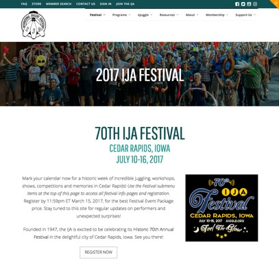 Fest page screenshot