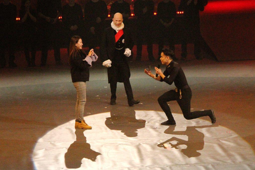 William proposes