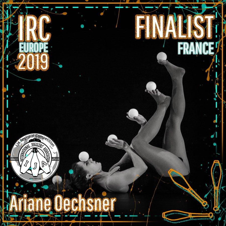 IRC Europe 2019 Finalist - Ariane Oechsner
