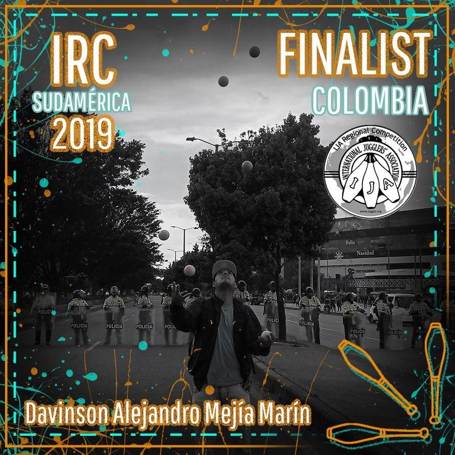 Sudamérica Finalista - Davinson Alejandro Mejía Marín