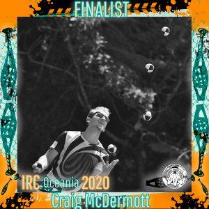 Craig McDermott - IRC Oceania 2020 Finalist