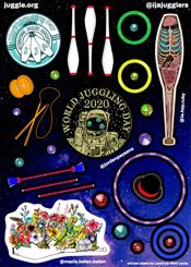 World Juggling Day sticker sheet